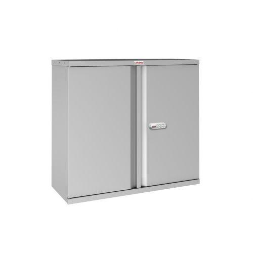 Phoenix SCL Series SCL0891GGE 2 Door 1 Shelf Steel Storage Cupboard in Grey with Electronic Lock