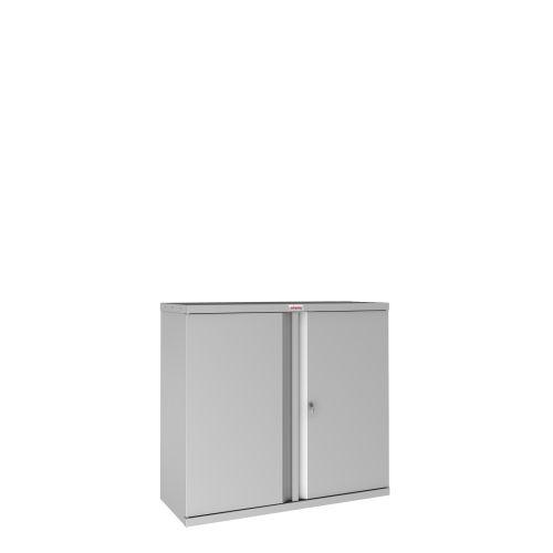 Phoenix SCL Series SCL0891GGK 2 Door 1 Shelf Steel Storage Cupboard in Grey with Key Lock