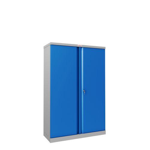 Phoenix SCL Series SCL1491GBK 2 Door 3 Shelf Steel Storage Cupboard Grey Body & Blue Doors with Key Lock