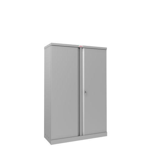 Phoenix SCL Series SCL1491GGK 2 Door 3 Shelf Steel Storage Cupboard in Grey with Key Lock