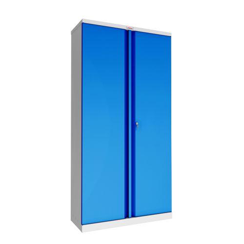 Phoenix SCL Series SCL1891GBK 2 Door 4 Shelf Steel Storage Cupboard Grey Body & Blue Doors with Key Lock