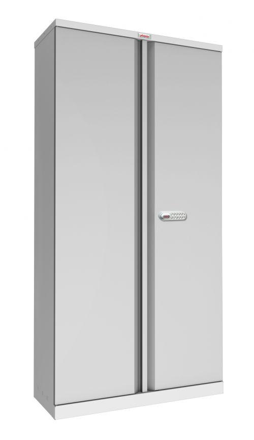 Phoenix SCL Series SCL1891GGE 2 Door 4 Shelf Steel Storage Cupboard in Grey with Electronic Lock