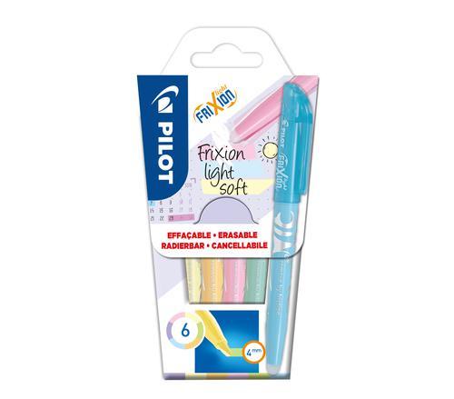 Pilot Frixion Light Soft Erasable Pastel Highlighter PK