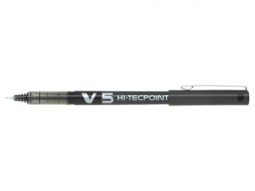 Pilot V5 Hi-Tecpoint Rollerball Pen Black (Pack of 12) 100101201