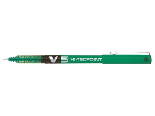 Pilot V5 Hi-Tecpoint Ultra Rollerball X Fine Green (Pack of 12) BXV504