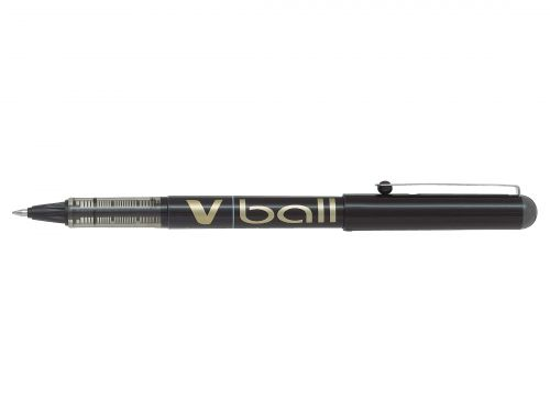 Pilot V-Ball Rollerball Pen Fine Black (Pack of 12) BLVB7-01