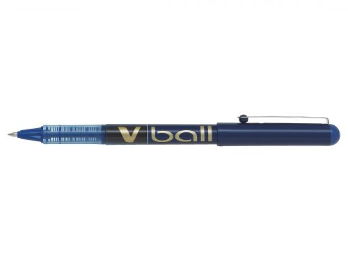 Pilot V-Ball Rollerball Pen Fine Blue (Pack of 12) BLVB7-03
