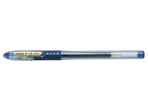 Pilot G-107 Grip Gel Rollerball Pen Fine 0.7mm Tip 0.39mm Line Blue Ref BLGPG10703 [Pack 12]