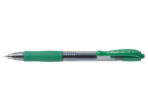 Pilot G207 Gel Retractable 0.7mm Green PK12