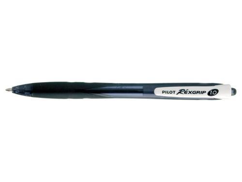 Pilot Begreen Rexgrip Retractable Ballpoint Pen Recycled 1.0mm Top 0.31mm Line Width Black (Pack 10)