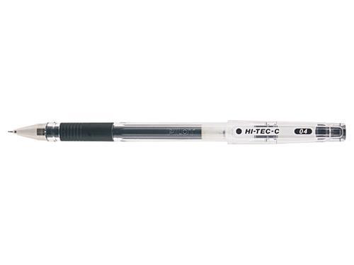 Pilot Begreen Hi-Tec C Grip Gel Rollerball Pen Recycled 0.4mm Tip 0.2mm Line Black (Pack 10)