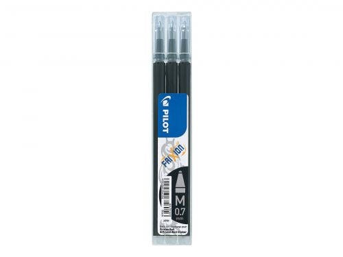 Pilot FriXion Rollerball Pen Refill Medium Black (Pack of 3) 075300301