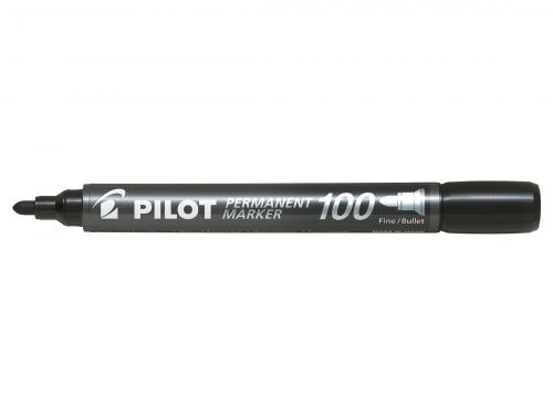 Pilot 100 Permanent Market Bullet Tip Black (Pack of 20) 3131910501268