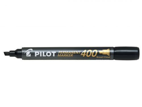 Pilot 400 Permanent Marker Chisel Tip Black (Pack of 20) 3131910504061