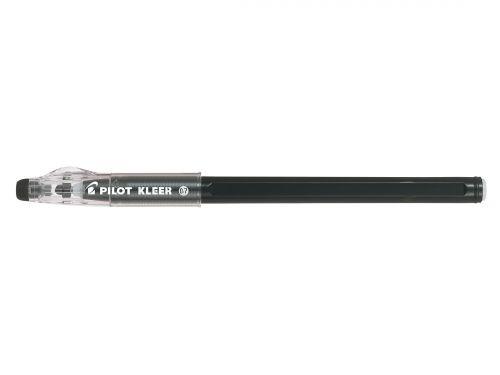 Pilot Kleer Erasable Ballpoint Pen 0.7mm Tip 0.35mm Line Black (Pack 12)