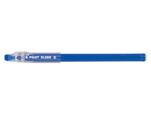 Pilot Kleer Erasable Ballpoint Pen 0.7mm Tip 0.35mm Line Blue (Pack 12)