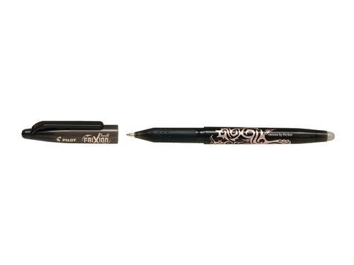 Pilot FriXion Ball Erasable Gel Rollerball Pen 1.0mm Tip 0.5mm Line Black (Pack 12)