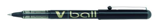 Pilot VBall Liquid Ink Rollerball Pen 0.7mm Tip 0.4mm Line Black (Pack 12)