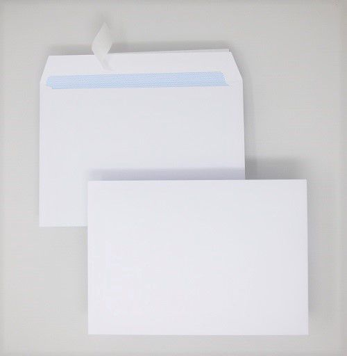 Wallet Peel & Seal C5 White 100gsm 162 x 229mm Blue Hatch Inner Opaque (Box 500) Code ENVC5/1121