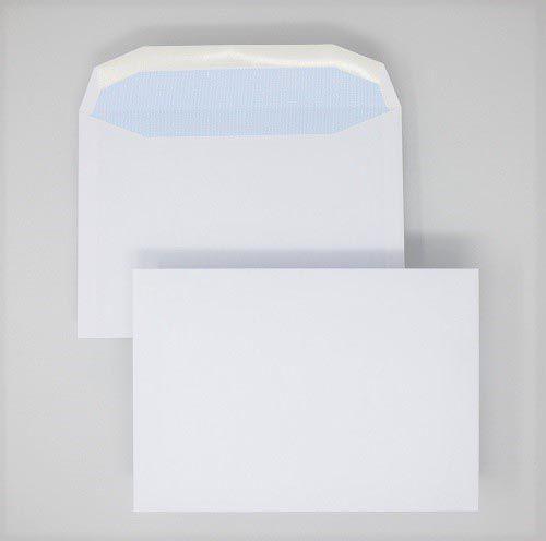 Wallet Gummed C5 White 90gsm 162 x 229mm Blue Hatch Inner Opaque (Box 500) Code ENVC5/2103OSS