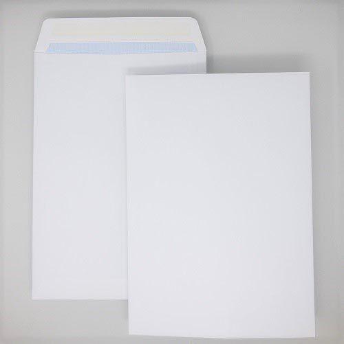 Pocket Gummed C4 White 100gsm 324 x 229mm Blue Hatch Inner Opaque (Box 250) Code ENVC4/2711