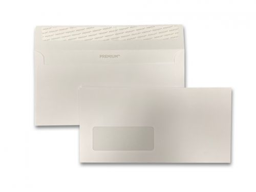 Wallet Peel & Seal DL Window Ice White 120gsm 110 x 220mm No Opaque (Box 500) Code 31884