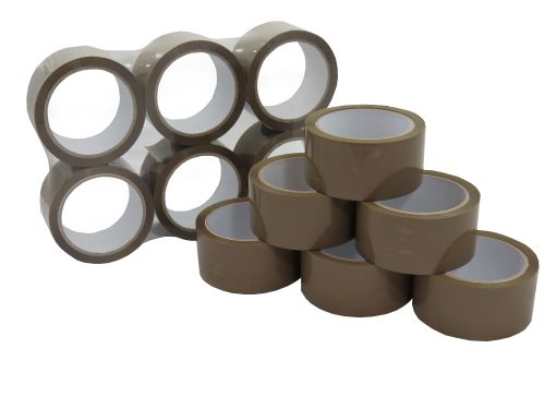 Buff Vinyl Tape 48mm x 66m (Pack 36) Code 808BUFF