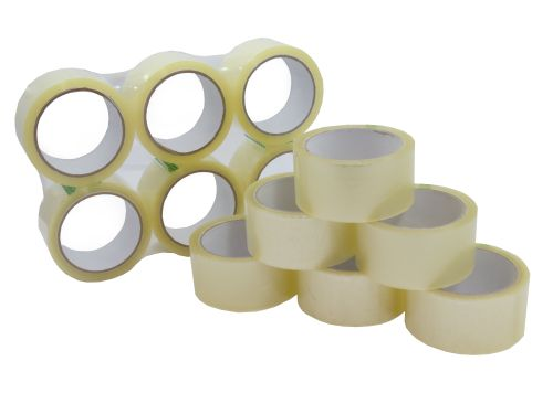 48mmx66m Clear Polypropylene Acrylic Tape (Pack 36) Code 809CLEAR