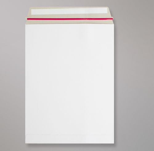Pocket Peel & Seal C4 All Board White 350gsm 324 x 229mm With Red Rippa Strip (Box 100) Code AB10-RIP