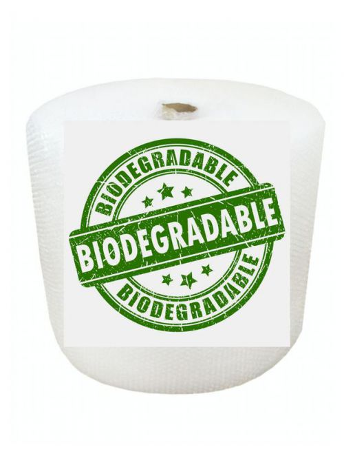 Biodegradable Small Bubble Wrap Rolls 750mm x 100m (Pack 2) Code SBBIO75100