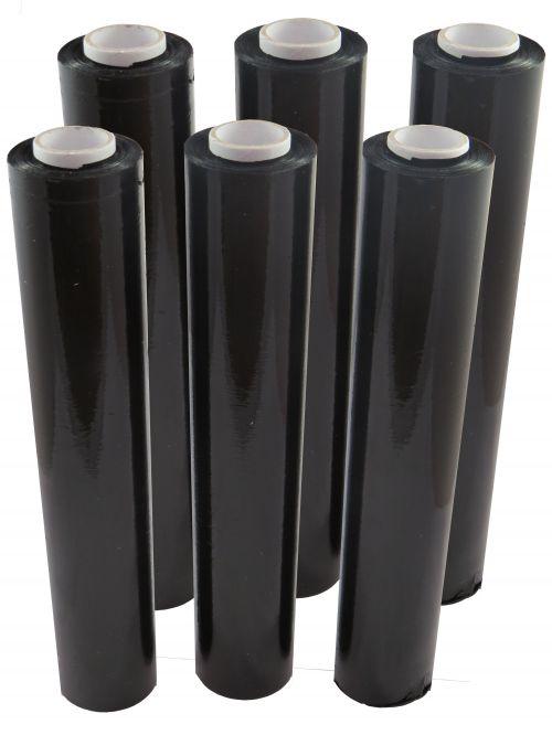 Black Hand Stretch Film Flush Core 25 Micron 500mm x 150m (Pack 6) Code 500X250BLACKSC