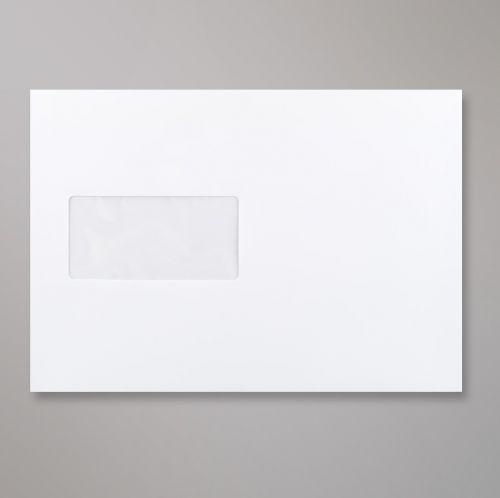 Wallet Peel & Seal C5 Super White 120gsm 162 x 229mm Window 45 x 90mm 20 FLHS 60 Up No Opaque (Box 500) Code C03C5PS-W
