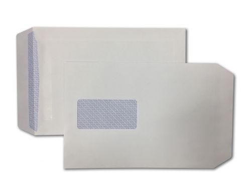 Pocket Self-Seal C5 White 90gsm 229 x 162mm Window 45 x 90mm 60 Up 20 Left Blue Hatch Inner Opaque (Box 500) Code ENVC5/10462