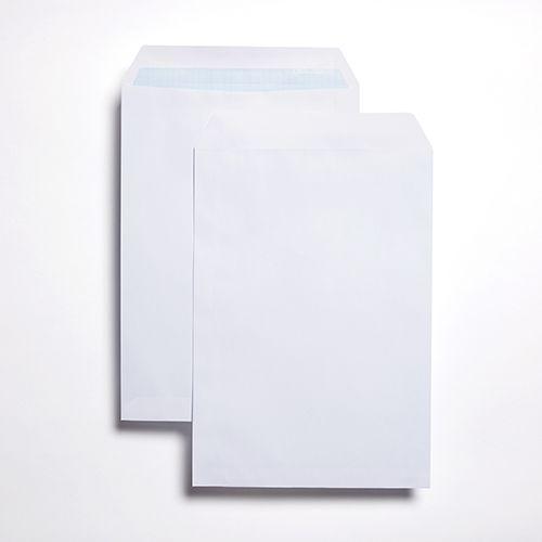 Pocket Self-Seal C4 White 90gsm 324 x 229mm Blue Hatch Inner Opaque (Box 250) Code ENVC4/2935