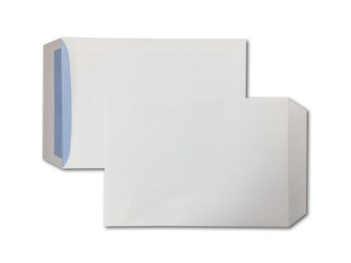 Pocket Peel & Seal C4 White 100gsm 324 x 229mm Blue Hatch Inner Opaque (Box 250) Code ENVC4/8087
