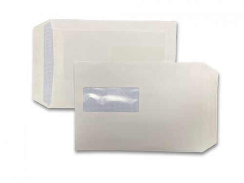 Pocket Self-Seal C5 White 90gsm 229 x 162mm Window 45 x 100mm 72 Up 15 Left Blue Hatch Inner Opaque (Box 500) Code ENVC5/10461