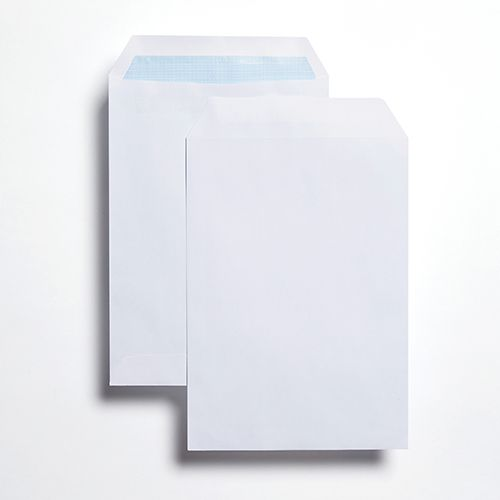 Pocket Self-Seal C5 White 100gsm 229 x 162mm Blue Hatch Inner Opaque (Box 500) Code ENVC5/2931