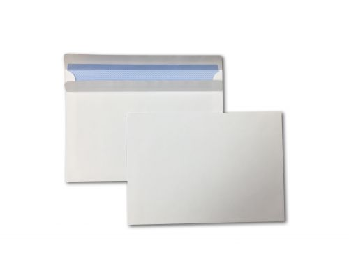 Wallet Self-Seal C5 White 90gsm 162 x 229mm Blue Hatch Inner Opaque (Box 500) Code ENVC5/5040