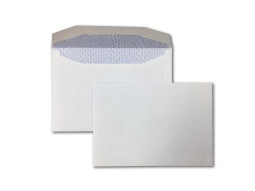 Wallet Gummed C6 White 80gsm 114 x 162mm Blue Hatch Inner Opaque (Box 1000) Code ENVC6/11301
