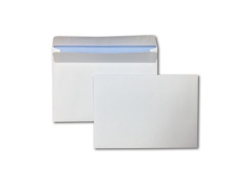 Wallet Self-Seal C6 White 90gsm 114 x 162mm Blue Hatch Inner Opaque  (Box 1000) Code ENVC6/5000