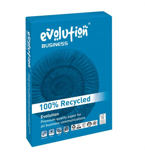 Evolution Business A4 Recycled Paper 120gsm White (Pack of 250) EVBU21120