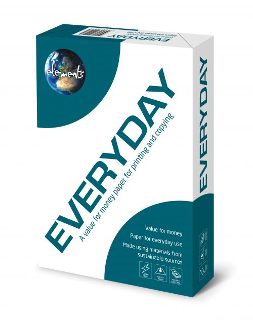 Elements Everyday A4 80gsm White Paper (Box 2500) Code ELEV2180