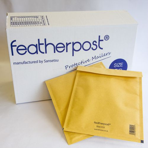 Featherpost® Bubble Lined Mailers F Gold 250mm x 345mm (Pack 100) Code FEASIZEFGD