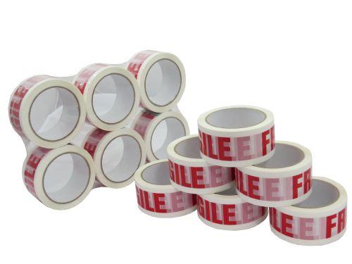 Fragile Printed Tape 48mmx66m (Pack 36) Code FRAGILE