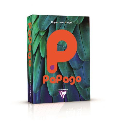 Papago Deep Intensive Orange A4 80gsm Paper 500 Sheets