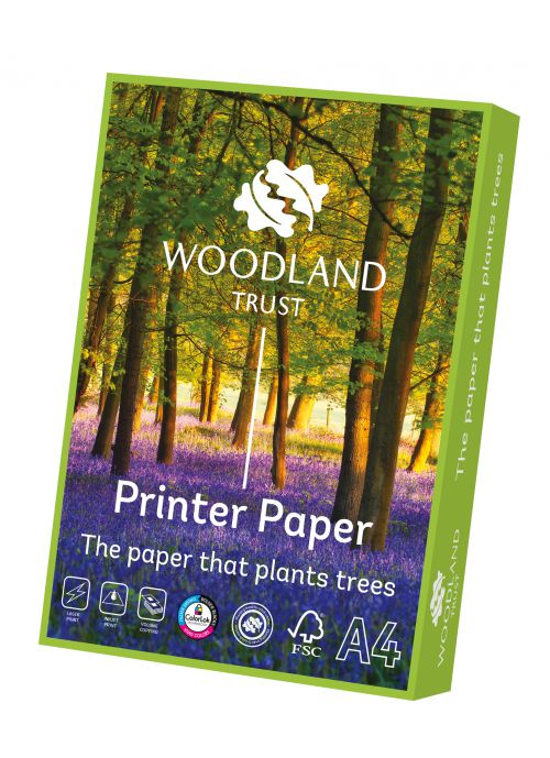 Woodland Trust Printer Paper FSC A4 80gsm White Paper (Box 2500) Code WTOA480