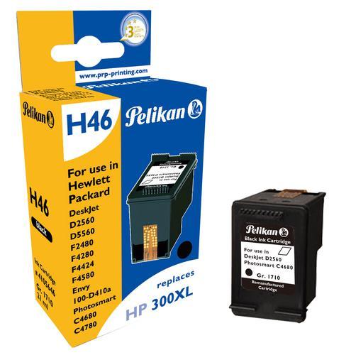 Pelikan Ink Cartridge replaces HP 300XL Black (CC641EE)