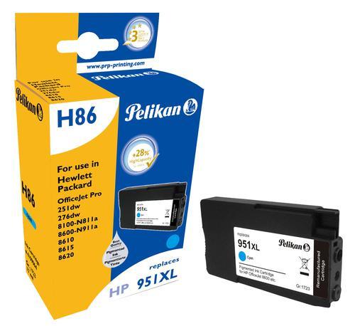 Pelikan Ink Cartridge replaces HP 951XL Cyan (CN046AE)