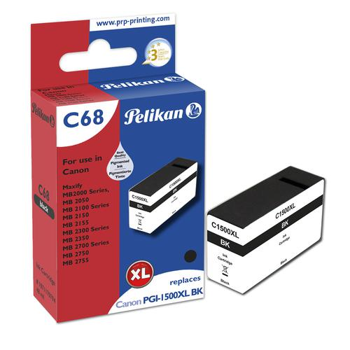 Pelikan Ink Cartridge replaces Canon PGI-1500XLBK Black