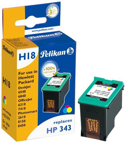 Pelikan Ink Cartridge replaces HP 343 Tri-Colour (C8766EE)